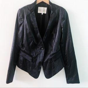 rachel rachel roy   black shimmer blazer, 6